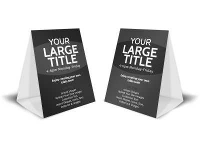Generic Table Tent Template 16118