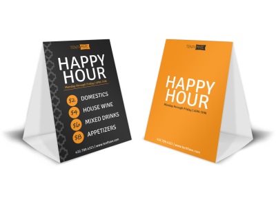 Tenth Ave Happy Hour Table Tent Template & Table Tent Templates | MyCreativeShop