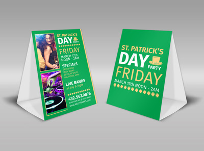 St Patrick's Day Party Table Tent Template