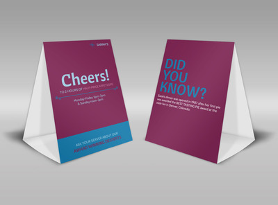 Generic Table Tent Template 16122