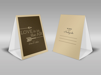 Newlywed Wedding Table Tent Template