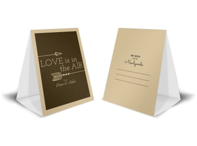 Newlywed Wedding Table Tent Template preview