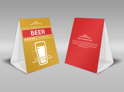 Richards Pour Beer Table Tent Template