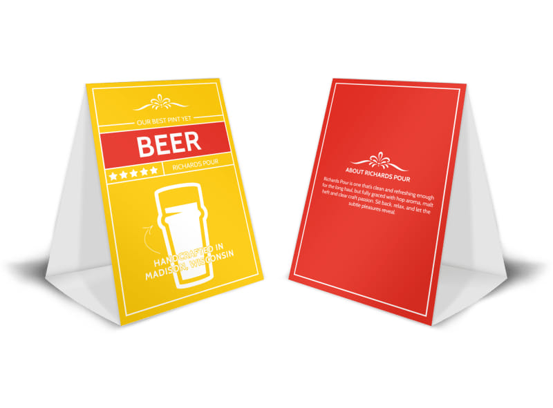 Richards Pour Beer Table Tent Template | Mycreativeshop