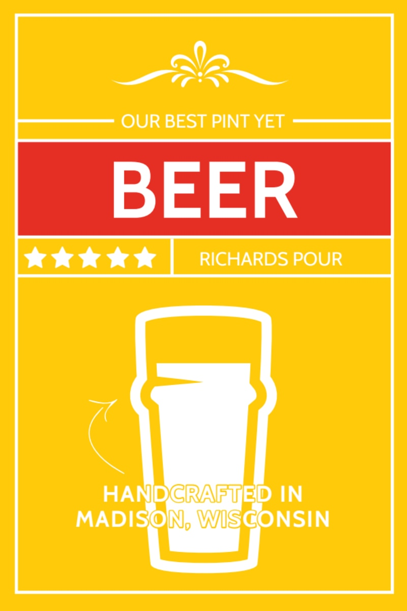 Richards Pour Beer Table Tent Template Preview 2