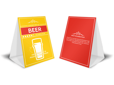Beer Table Tent Templates Template Preview