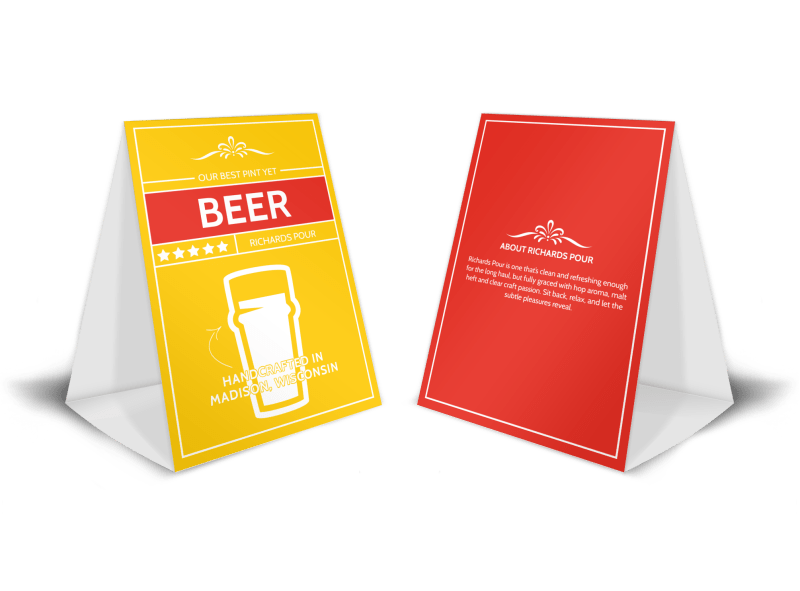 Richards Pour Beer Table Tent Template Preview 1