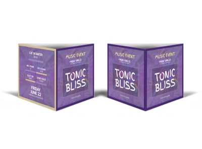 Tonic Bliss Music Table Talker Template preview