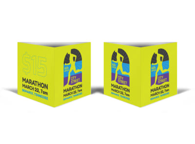 City Street Marathon Table Talker Template