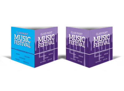 Glass Paint Music Festival Table Talker Template preview