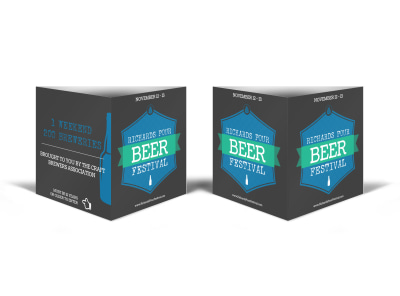 Richards Pour Beer Festival Table Talker Template preview