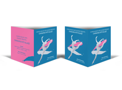 Into Glass Dance Show Table Talker Template preview