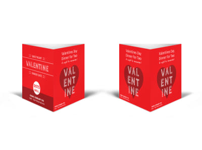 Valentine Dinner Table Talker Template preview