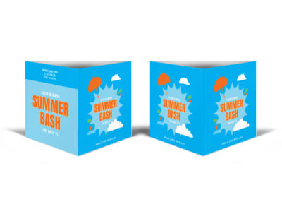 Summer Bash Table Talker Template preview