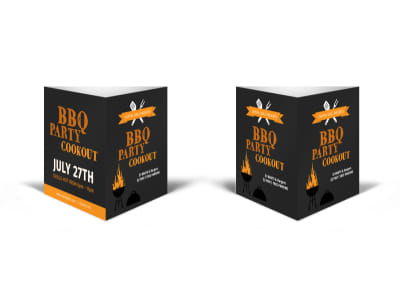BBQ Party Cookout Table Talker Template preview