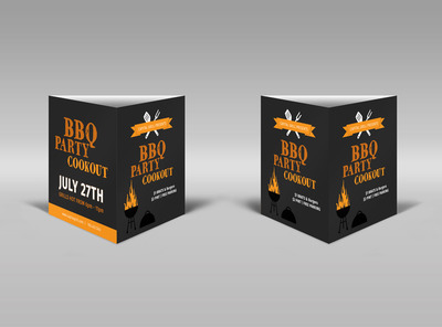 BBQ Party Cookout Table Talker Template