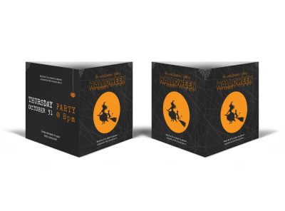 Halloween Party Table Talker Template preview