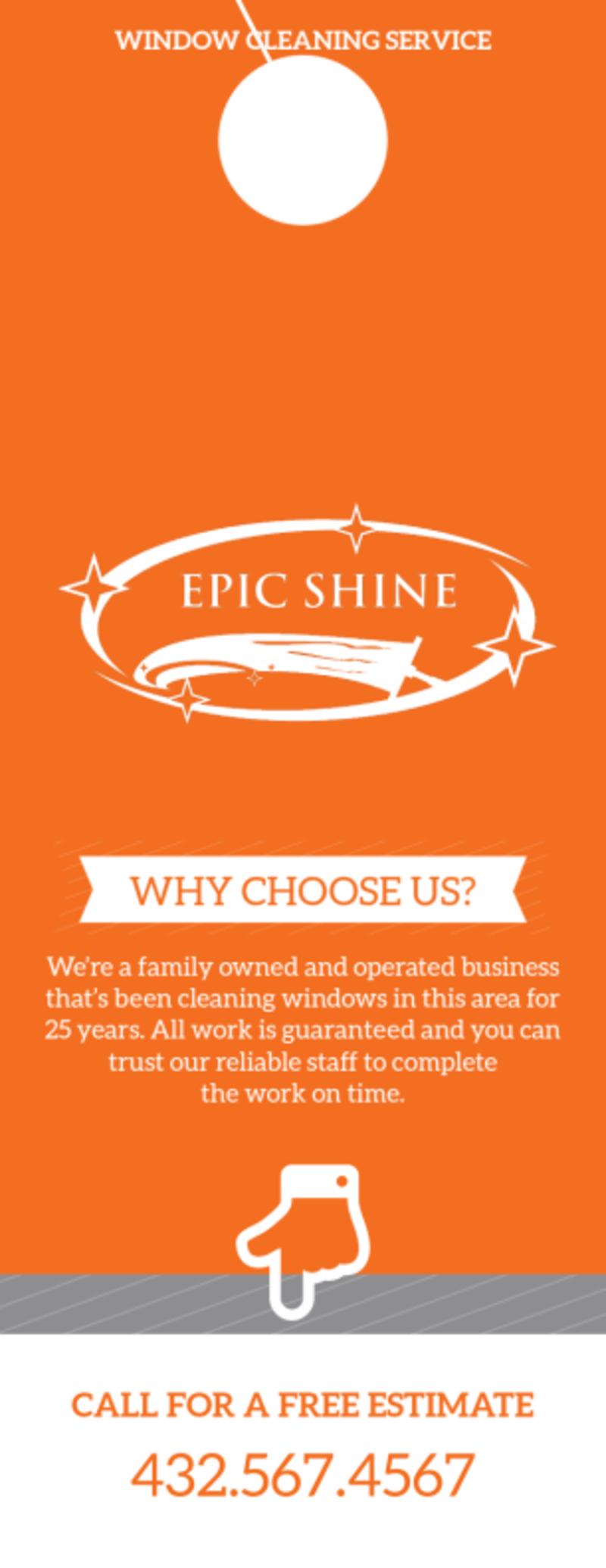 Epic Shine Window Cleaning Door Hanger Template Preview 2