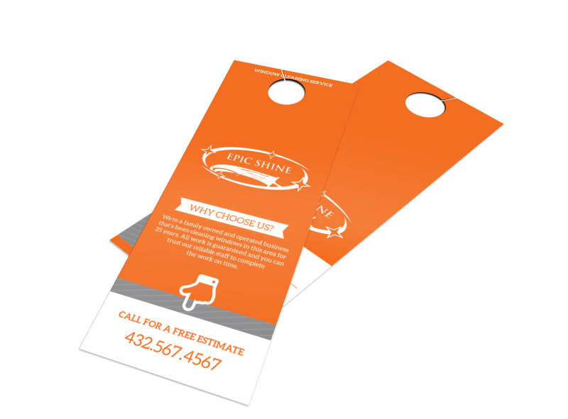 Epic Shine Window Cleaning Door Hanger Template Preview 1