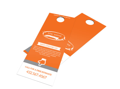 Epic Shine Window Cleaning Door Hanger Template