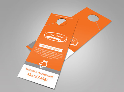 Epic Shine Window Cleaning Doorhanger Template