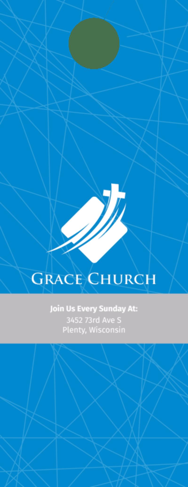 Grace Church Outreach Door Hanger Template Preview 3
