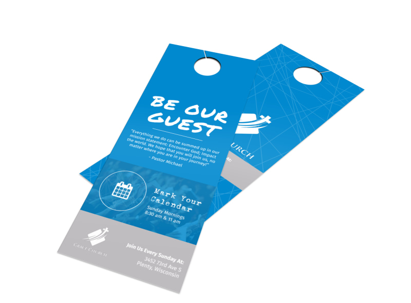 Grace Church Outreach Door Hanger Template