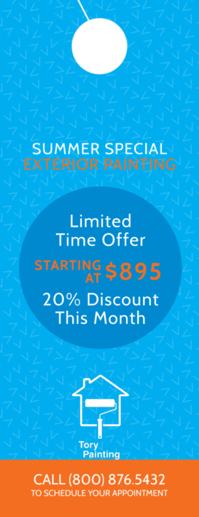 Tory Painting Discount Door Hanger Template Preview 2