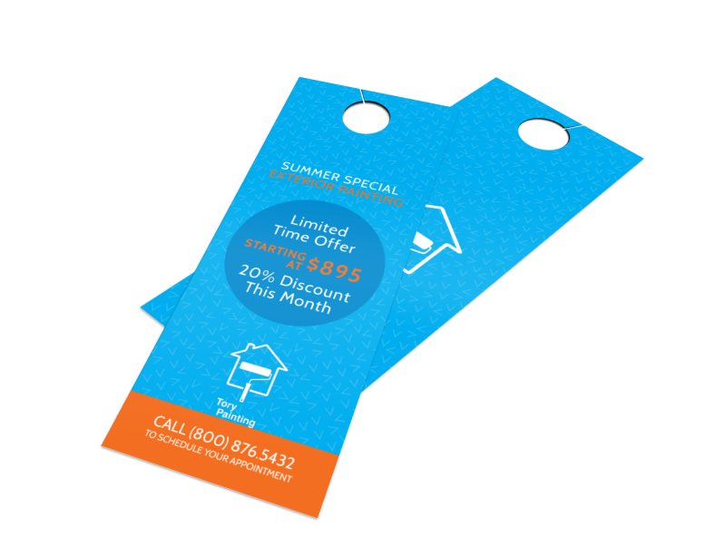 Tory Painting Discount Door Hanger Template Preview 1