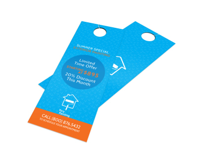 Tory Painting Discount Door Hanger Template preview