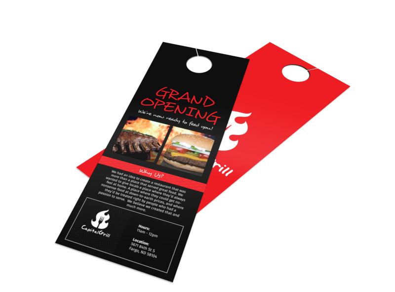 Capital Grill Grand Opening Door Hanger Template Preview 4