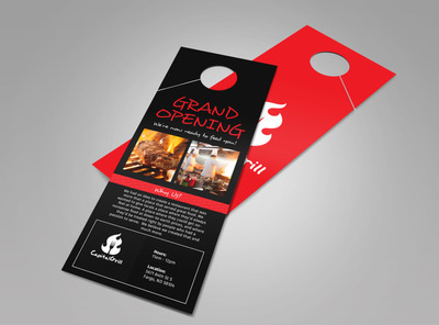 Capital Grill Grand Opening Doorhanger Template