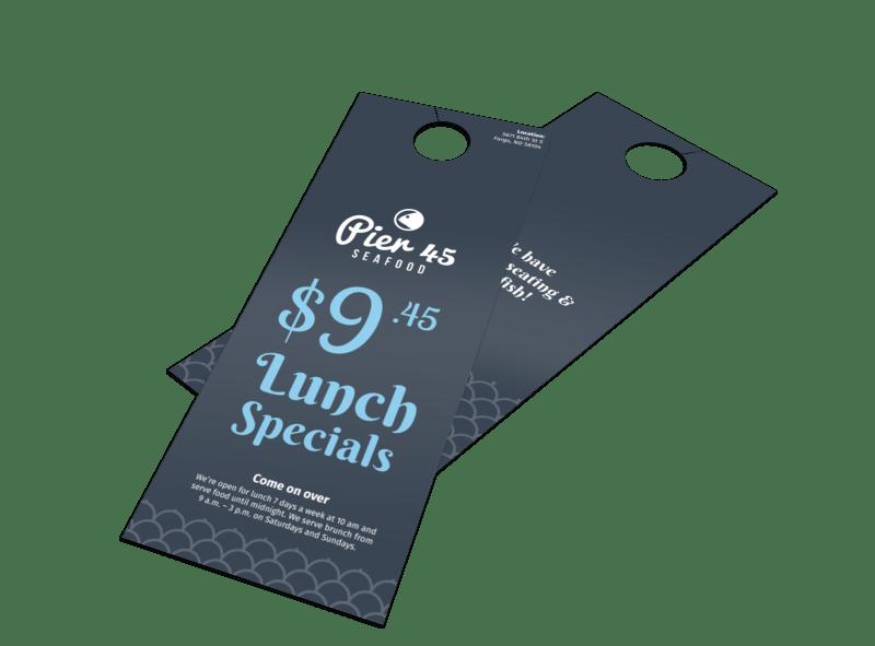 Pier 45 Lunch Specials Door Hanger Template Preview 1
