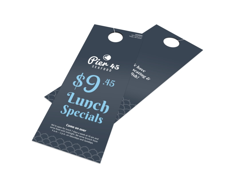 Pier 45 Lunch Specials Door Hanger Template