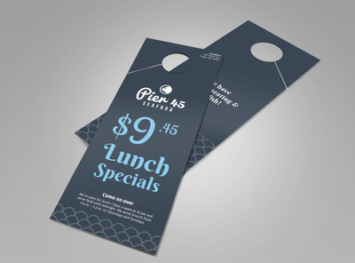 Pier 45 Lunch Specials Doorhanger Template