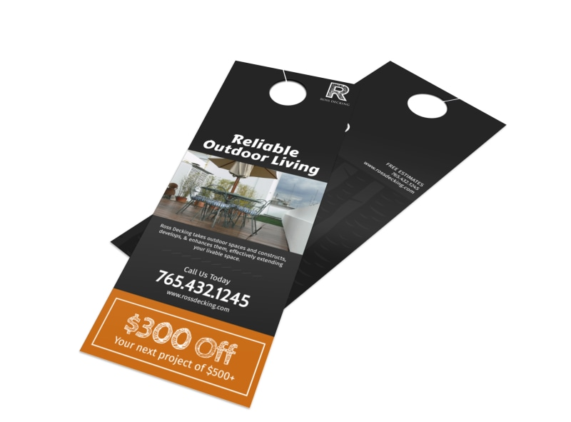 Ross Decking & Outdoor Living Door Hanger Template