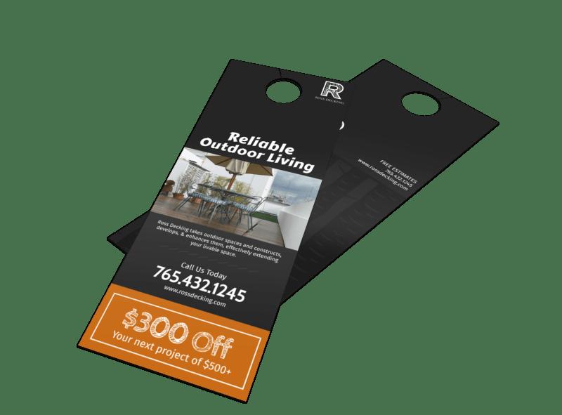 Ross Decking & Outdoor Living Door Hanger Template