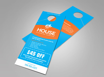 Superior House Cleaning Doorhanger Template