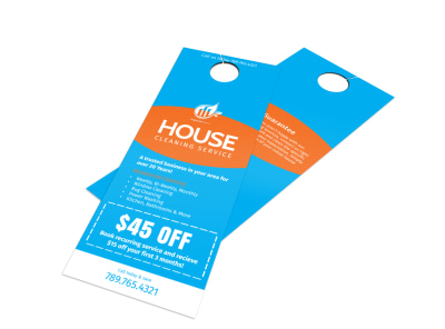 Superior House Cleaning Door Hanger Template preview