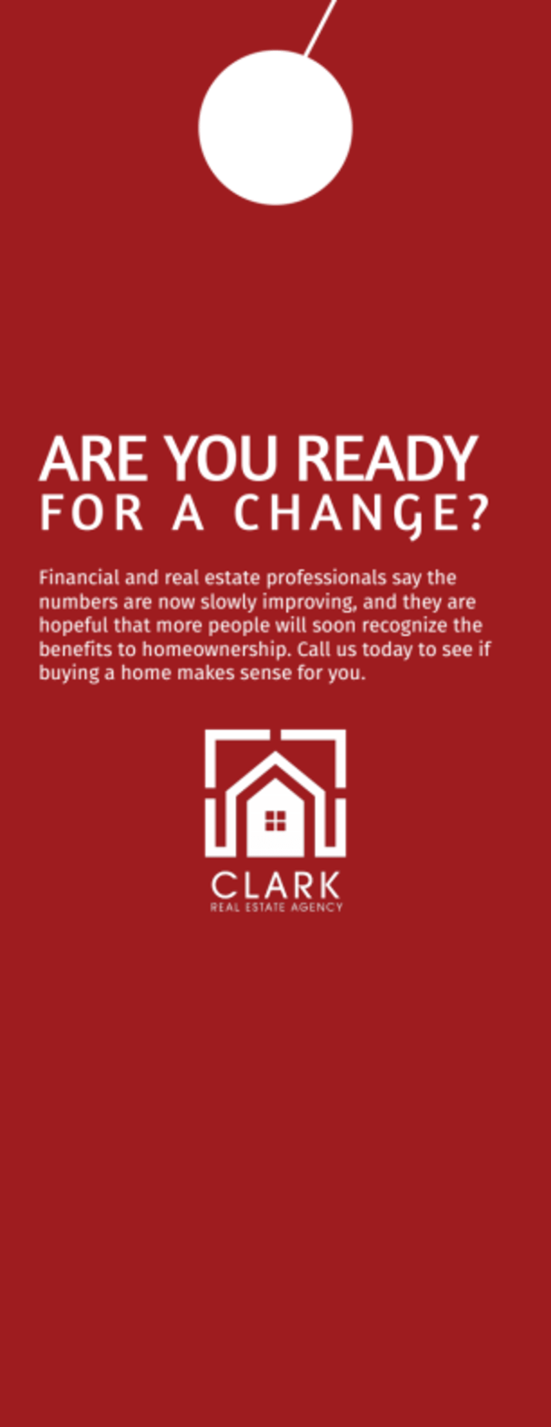 Clark Real Estate Agency Door Hanger Template Preview 3