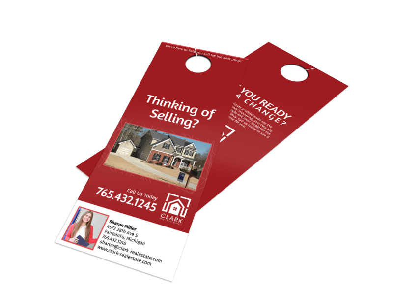 Clark Real Estate Agency Door Hanger Template Preview 1