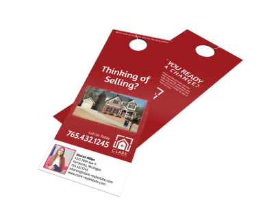 Clark Real Estate Agency Door Hanger Template