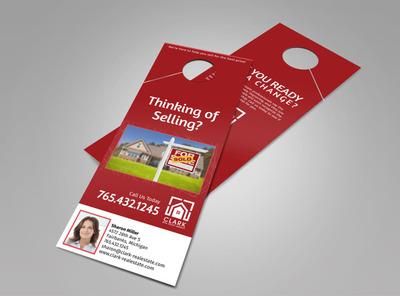 Clark Real Estate Agency Doorhanger Template