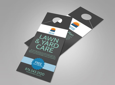 Pacific Lawn & Yard Care Doorhanger Template