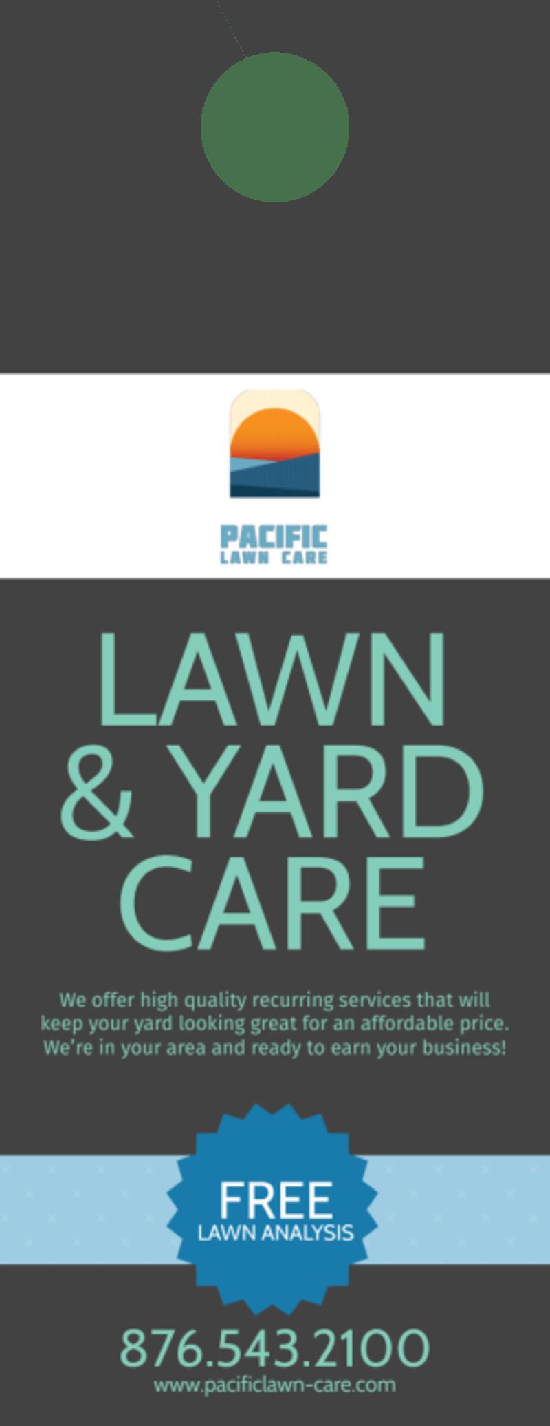 Pacific Lawn & Yard Care Door Hanger Template Preview 2