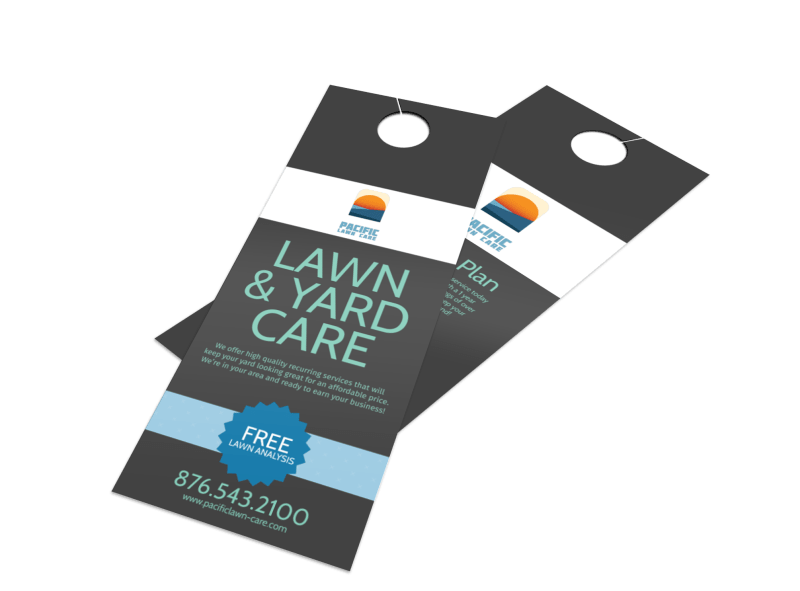 Pacific Lawn & Yard Care Door Hanger Template Preview 1