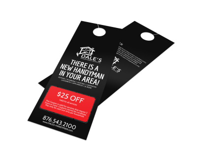 Dale's Handyman Discount Door Hanger Template preview
