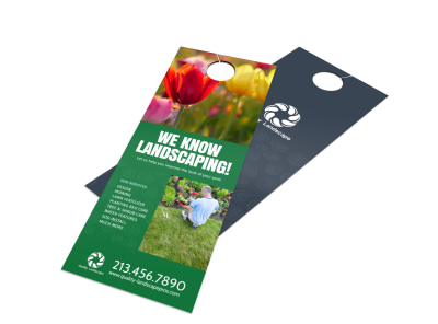 Quality Landscaping Service Door Hanger Template preview