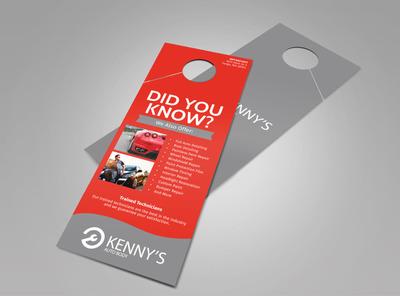 Kenny's Auto Body Doorhanger Template