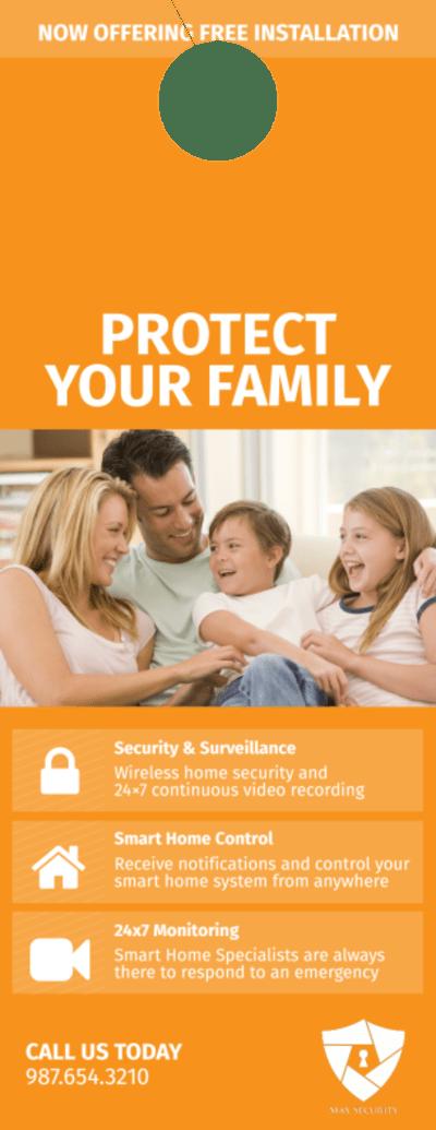 Max Home Security Door Hanger Template Preview 1